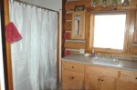 bathroom at vacation rental cabin in Gunnison Colorado