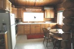 kitchen of the gunnison vacation hunting cabin in colorado