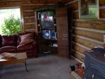 living room of the cabin in Gunnison, Colorado